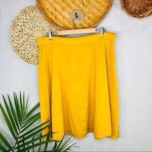 Lane Bryant | Mustard Ponte Circle Skirt 18/20
